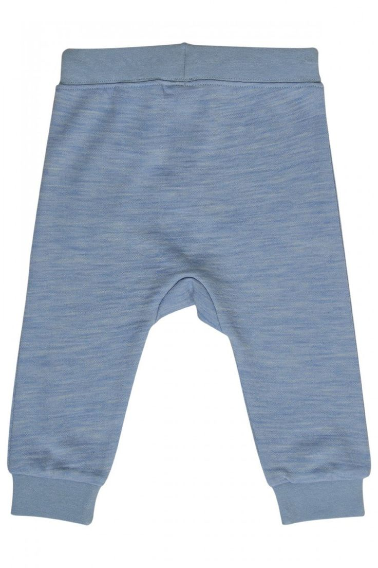 Hust & Claire, Wool/Bamboo jogging pants blue nb boy