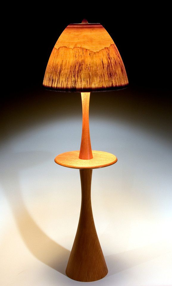 98 best turned wood lamps images on pinterest wood lamps floor lamp with table with large mushroom shade large mushroomwood lampsturned aloadofball