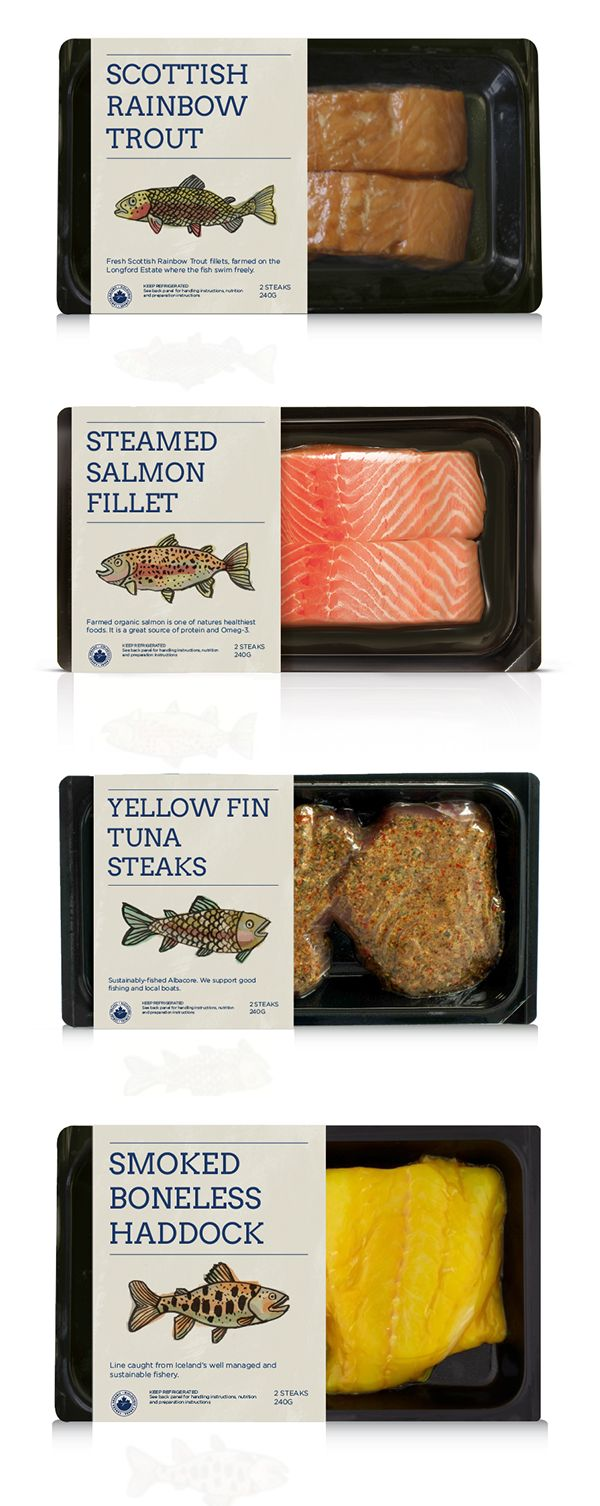 Illustrative Fish Packaging on Behance