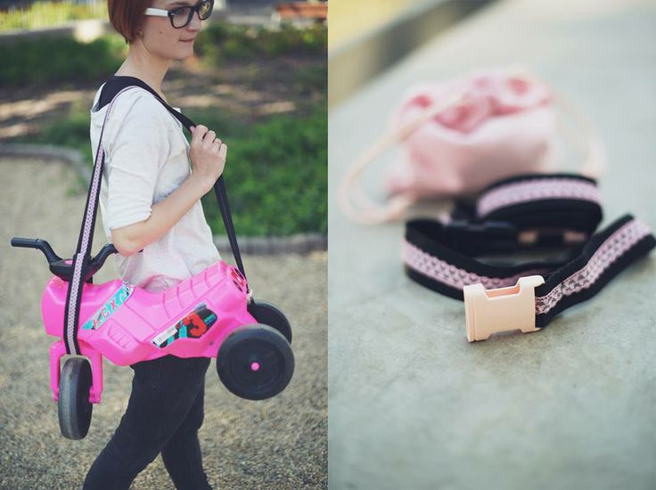 The Pocket Trailer is a special strap for kid's running bike and motor. You can hang up the bike and motor on the baby buggy or your shoulder. The Pocket Trailer decorated with lace. It is fashionable, stylish and feminine. https://www.facebook.com/pockettrailer