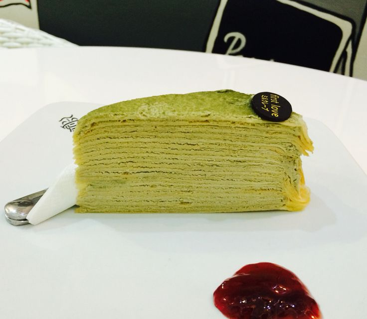 Matcha Crepe, you're my fav dessert of all time. Yum! - at First Love Pattisserie