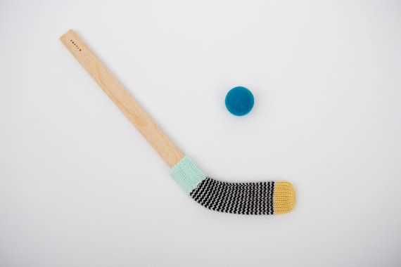 Mini Hockey Stick J.N.B.M. by desEnfantillages on Etsy