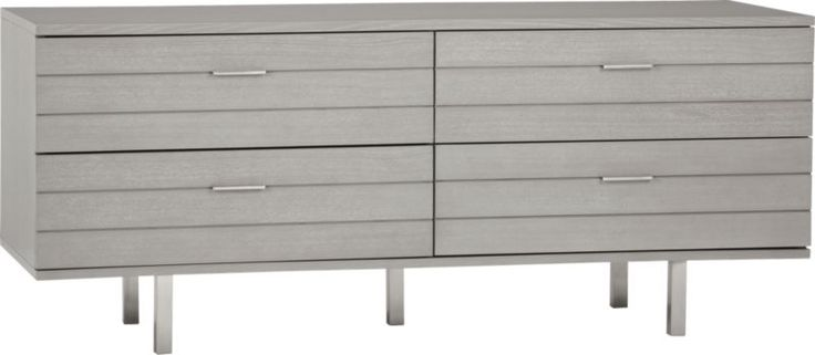 concrete low dresser in bedroom furniture | CB2...master to put tv on