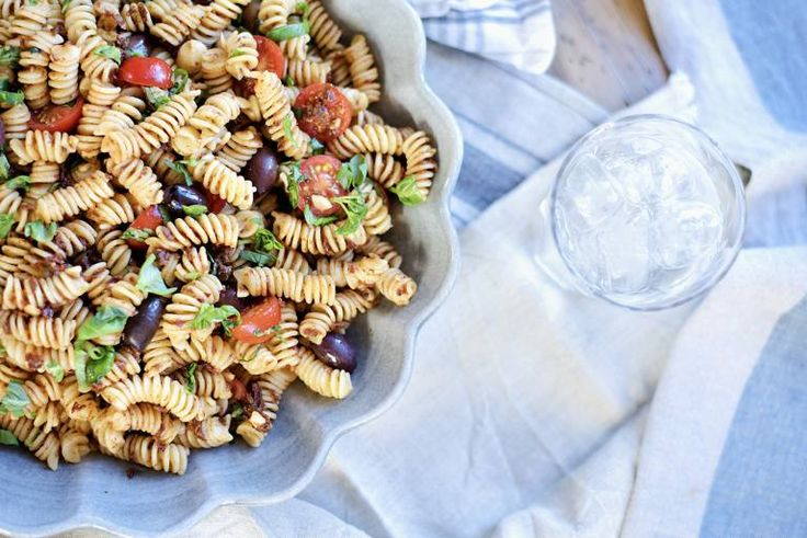 pastasalat med soltørkede tomater 7