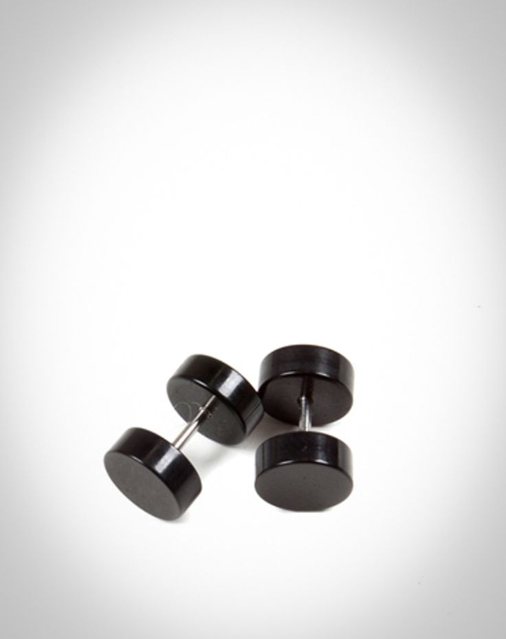 Plain Black Fake Plug. i like the look but not interested in having massive earlobes later in life.