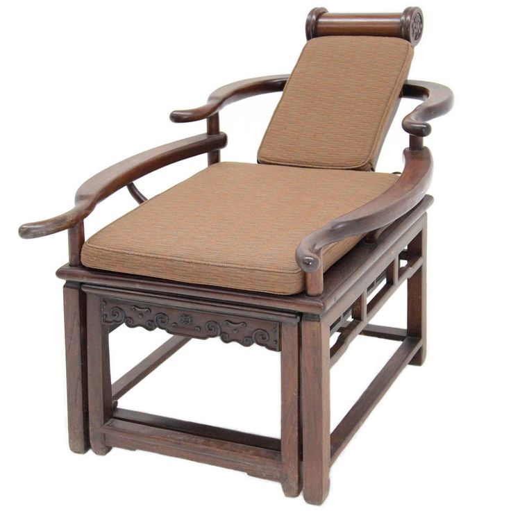 Exceptional Asian Recliner or Deck Chair, circa 1900  - 1910 | From a unique collection of antique and modern lounge chairs at https://www.1stdibs.com/furniture/seating/lounge-chairs/