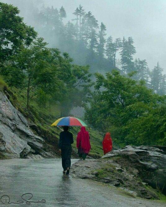 Rain in Neelam Valley kashmir Pakistan