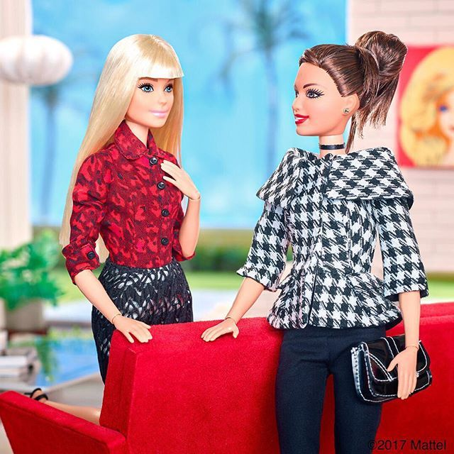 When it comes to prints, more is more! We're all decked out for dinner. ❗️ #barbie #barbiestyle