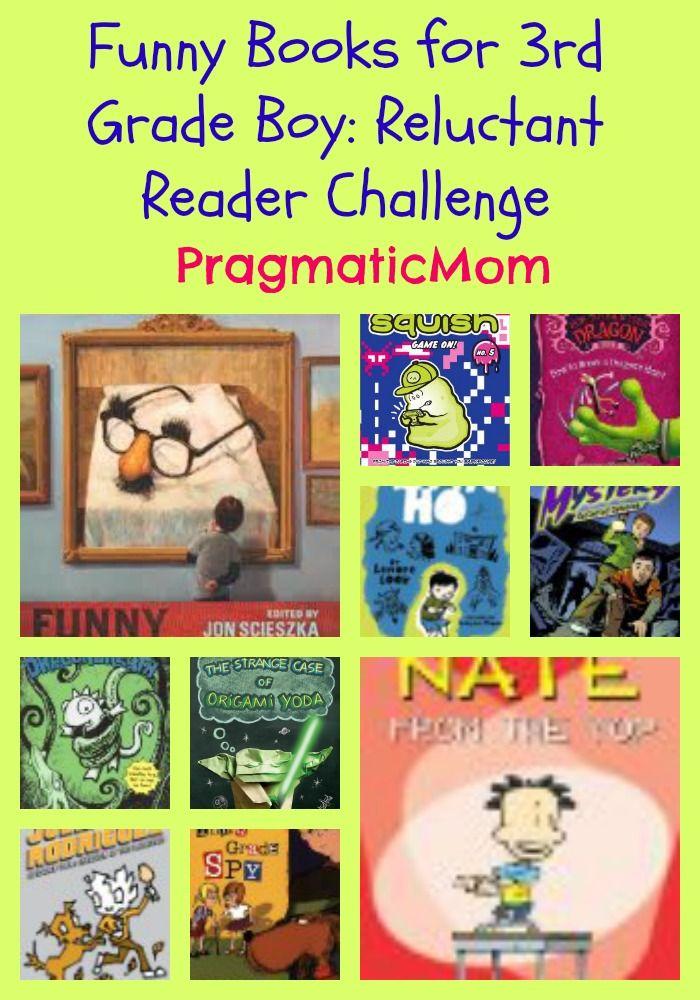 Funny Books for 3rd Grade Boy: Reluctant Reader Challenge :: PragmaticMom