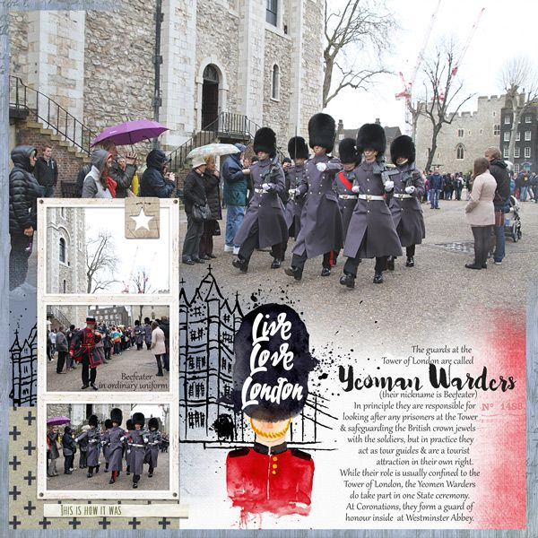at tower of london scrapbook page by Justine with the Lilypad products  #4photos