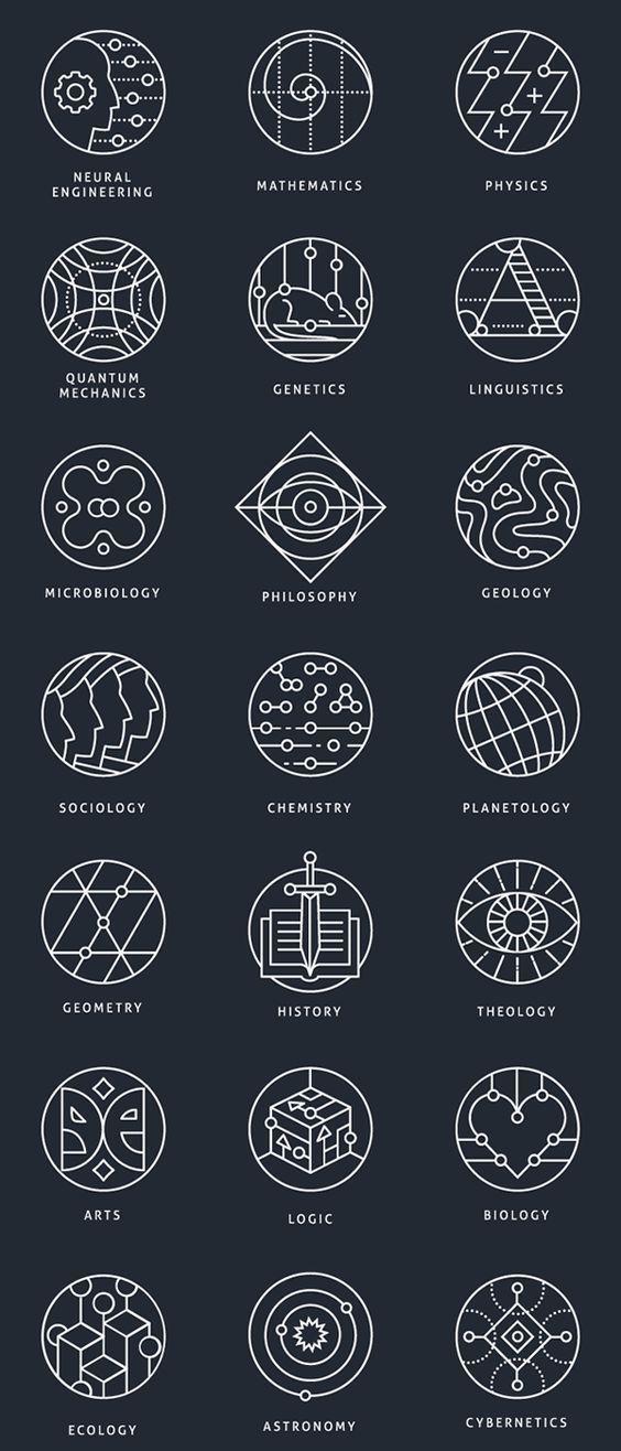Sammlung konzeptioneller Marken, die verschiedene wissenschaftliche …,  #konzeptioneller #marken #sammlung #verschiedene #wissenschaftliche