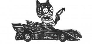 Calavera de Batman por José Pulido -  Dedicada a mi querido amigo Carlos Villalvazo.