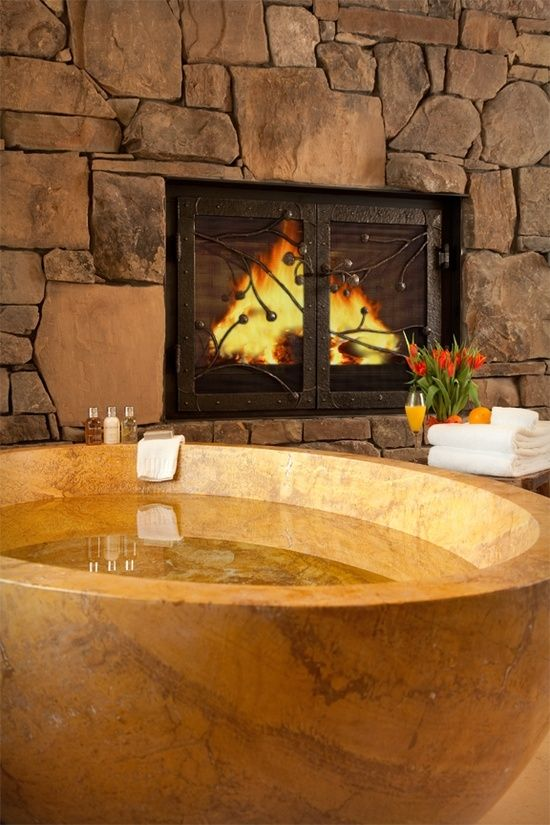 136 Best Bathroom Fireplaces Images On Pinterest | Dream Bathrooms, Room  And Architecture Part 56