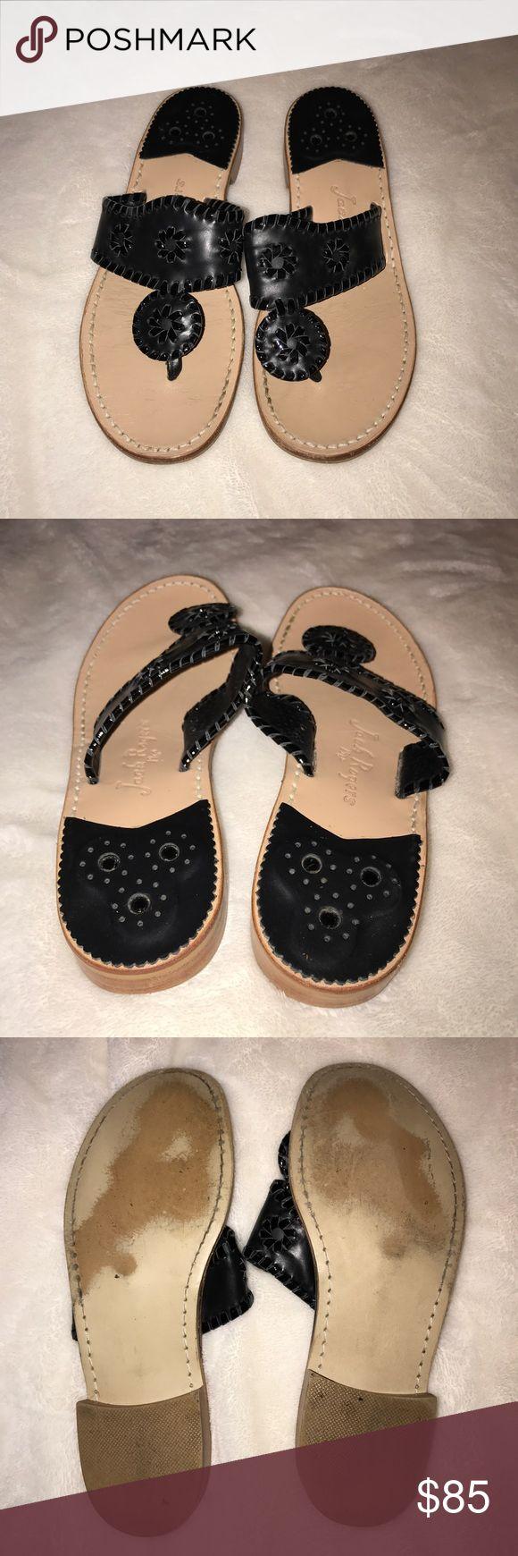 Black Jack Rogers Worn once! Black Jack Rogers Jack Rogers Shoes Sandals