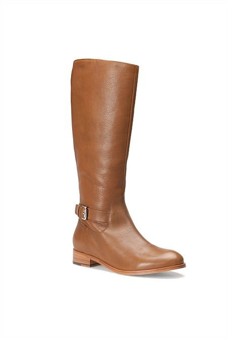 Leather Equestrian Boot - from Trenery