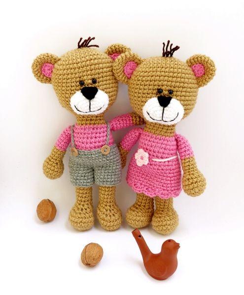 horgolt maci pár / crochet teddy bear couple https://www.etsy.com/shop/spikycake