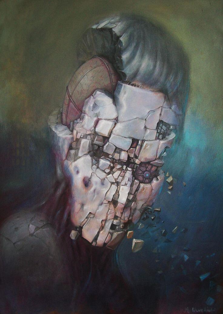 maciej wierzbicki- destruction  acrylin on canvas
