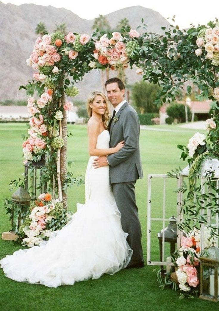 20. With #Windows and Lanterns, #Flowers and Greenery - 53 #Wedding #Arches…