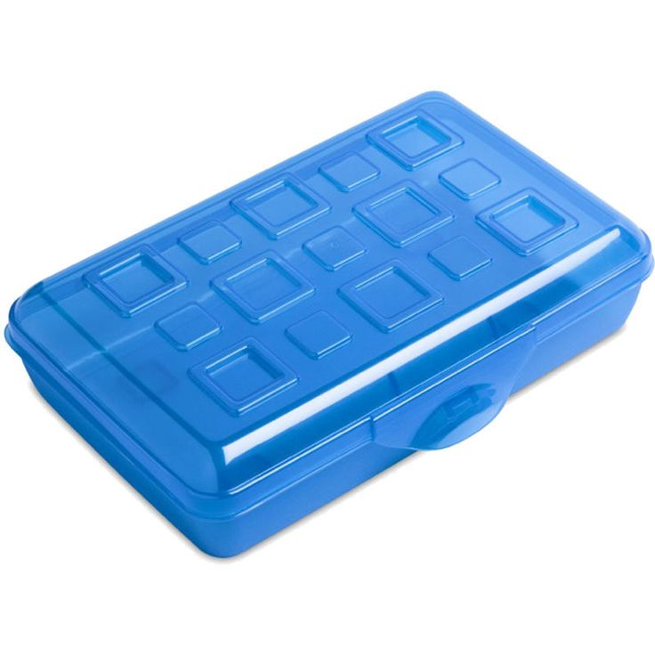 Plastic pencil box, 5.99 for 6 pack