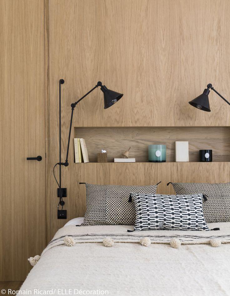 58 best t tes de lit headboard images on pinterest - Parure de lit blanche ...