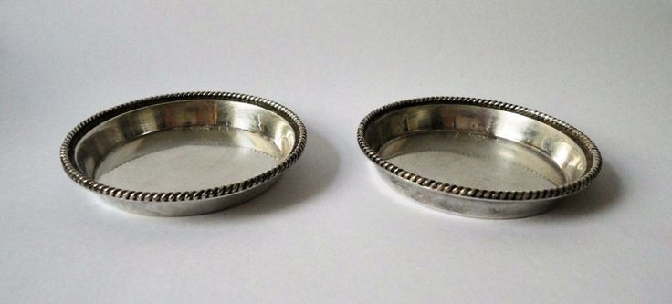 Sterling Silver Set of Two Vintage Small Bowls (925) #MaramenosPaterasJewelryStoreinAthens