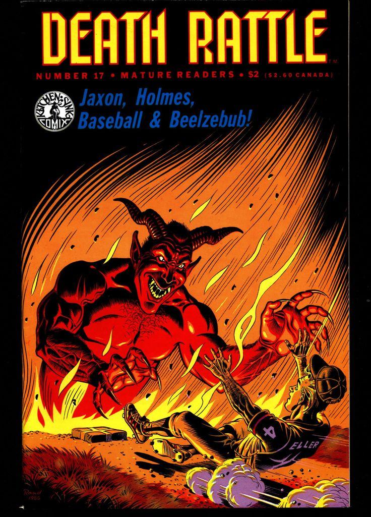 DEATH RATTLE #17 Rand Holmes Jaxon Baseball Satan Mature Horror Fantasy Science Fiction Psychedelic Underground Anthology Comic