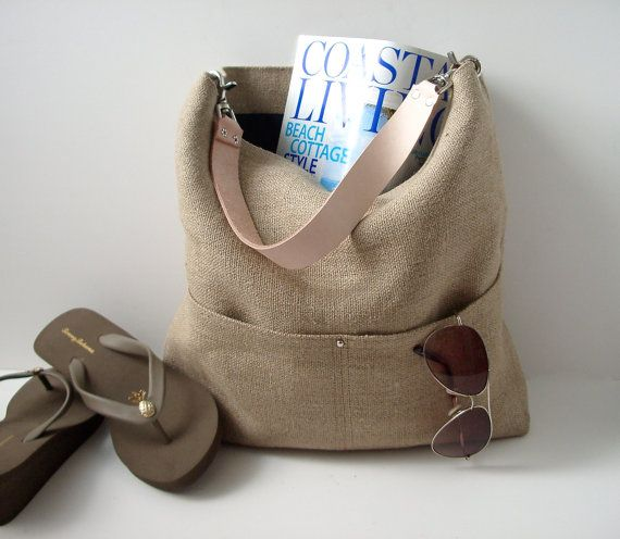 Sac à main, sac de plage, seau Tote, Hobo Cabas, sac cabas en lin, naturel, Jute cabas tissés, Resort fourre-tout, sac cabas d