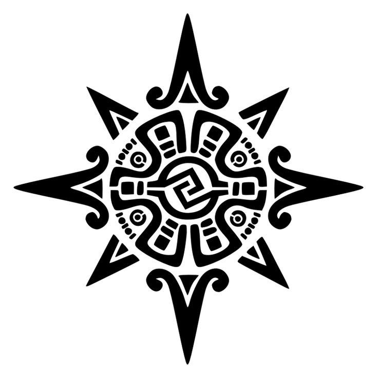 Tatuaggio di Stella azteca, Sole, unione tattoo - custom tattoo designs on TattooTribes.com