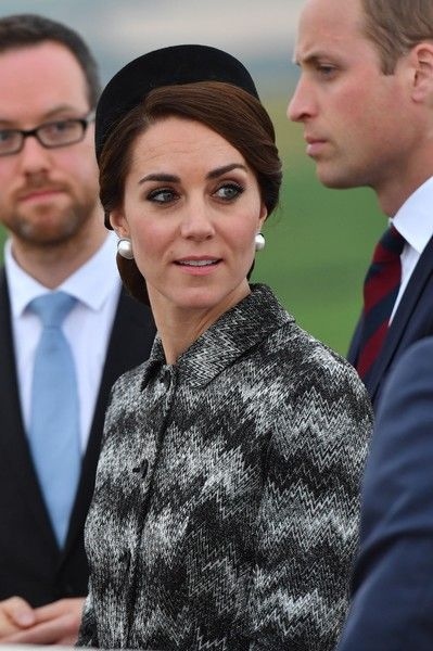 ALBERT, FRANCE JUNE 30: Catherine Duchess of Cambridge attend the Somme Centenary commemorations at the Thiepval Memorial on June 30, 2016 in Albert, France.