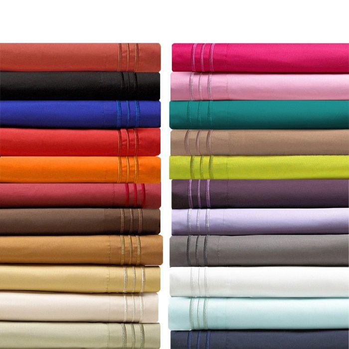 Elegant Comfort Luxurious Wrinkle-free, Fade-resistant, Deep Pocket Bed King Size Sheet Set in