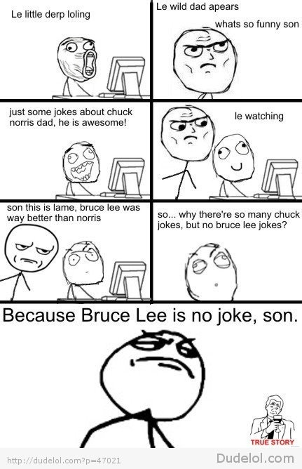 Why There Are No Bruce Lee JokesRandom Funny, Funny Shit, Jokes, Rage Comics, Funny Stuff, Humor, Bruce Lee, True Stories, Chuck Norris