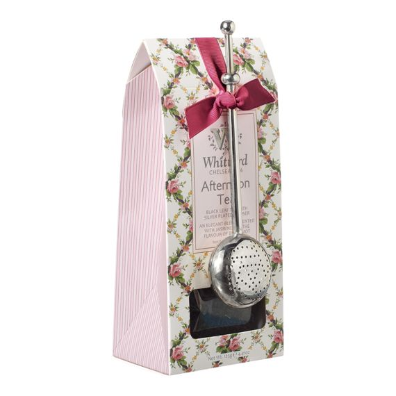 Finest Afternoon Loose Tea Pouch & Silver Plated Infuser