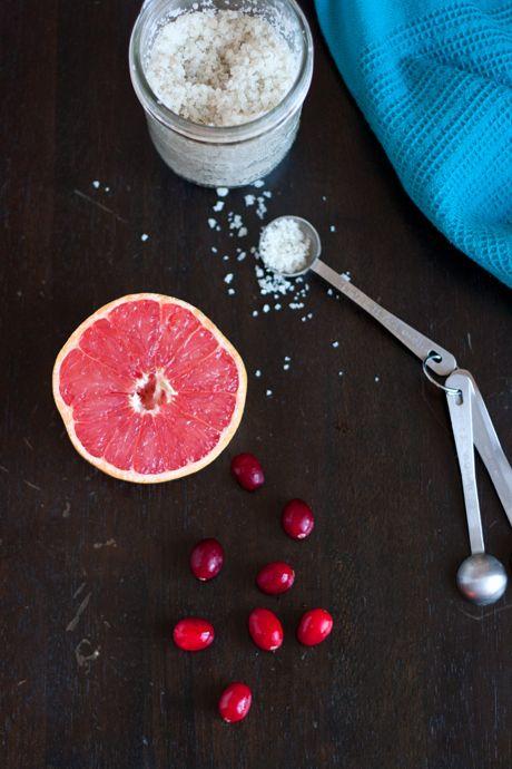 Salted cranberry grapefruit preserves