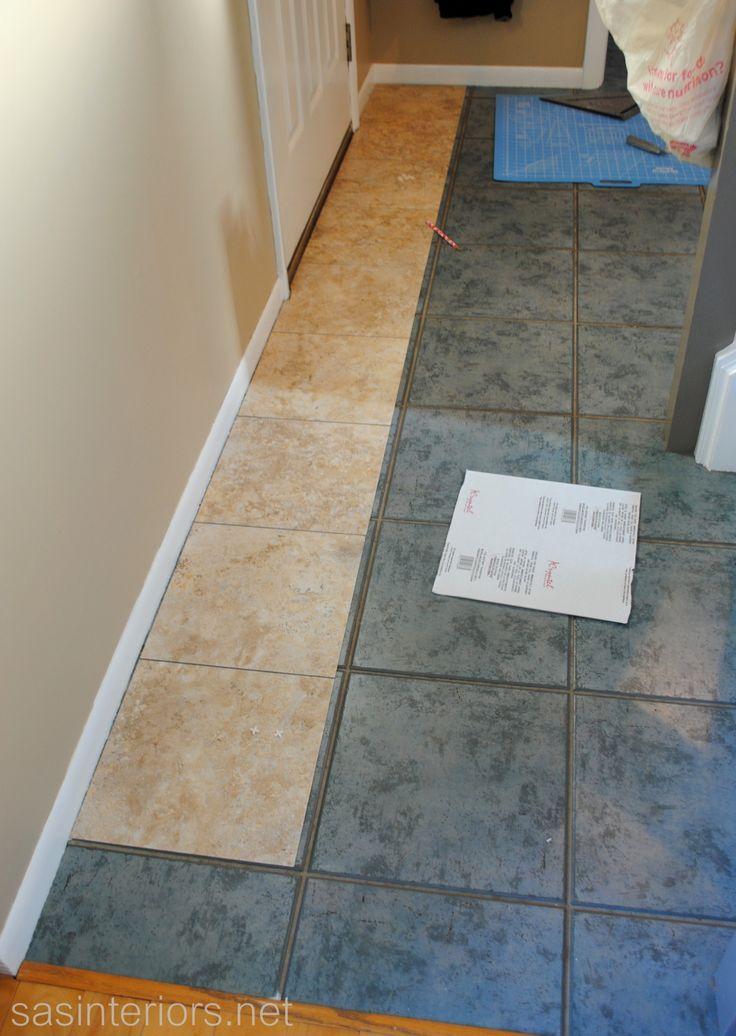 Installing Groutable Vinyl Tile via sasinteriorsnet  Flooring  Groutable vinyl tile Vinyl