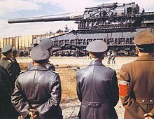 The Heavy Gustaf (Schwerer Gustav), railway gun.