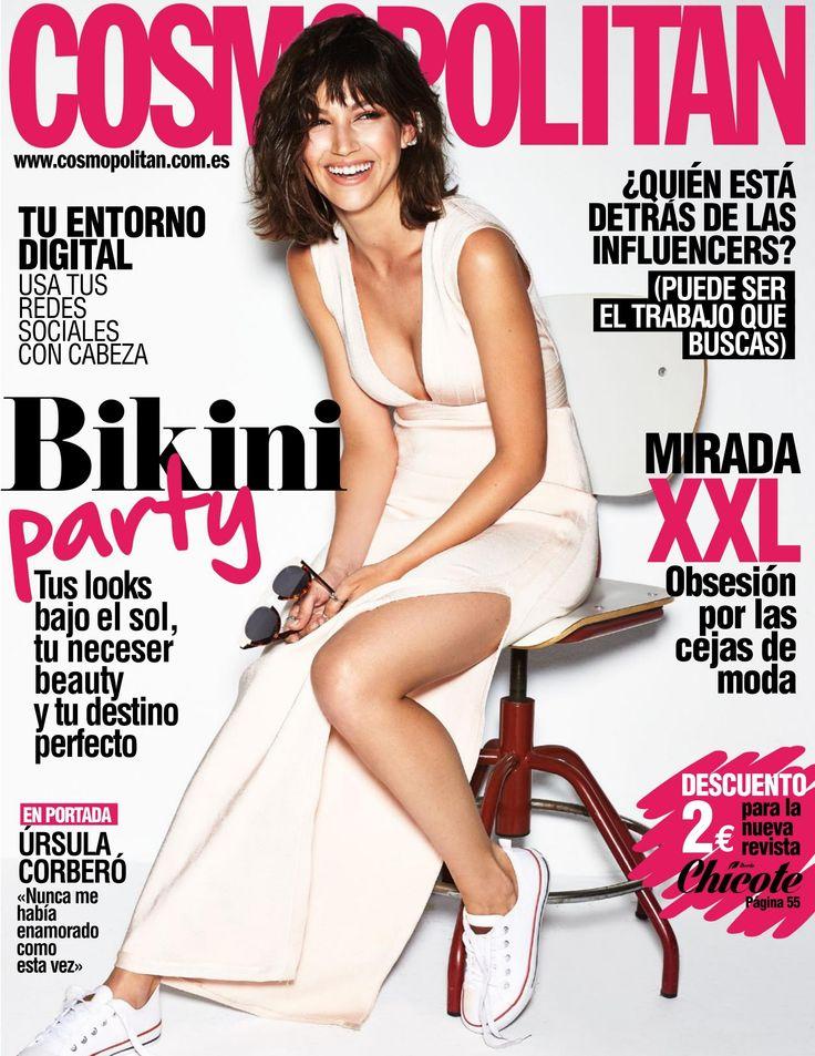 Revista #COSMOPOLITAN, #junio 2016. #Bikini party. Ursula Corberó en portada. ¿Quién está detrás de las #influencers? Obsesión por las #cejas de #moda.