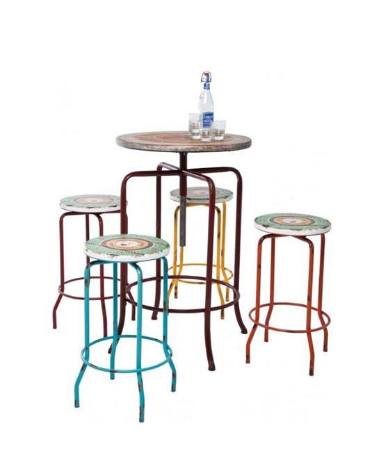 17 meilleures images propos de tabouret haut sur pinterest teck lisse et - Ensemble table haute et tabouret ...