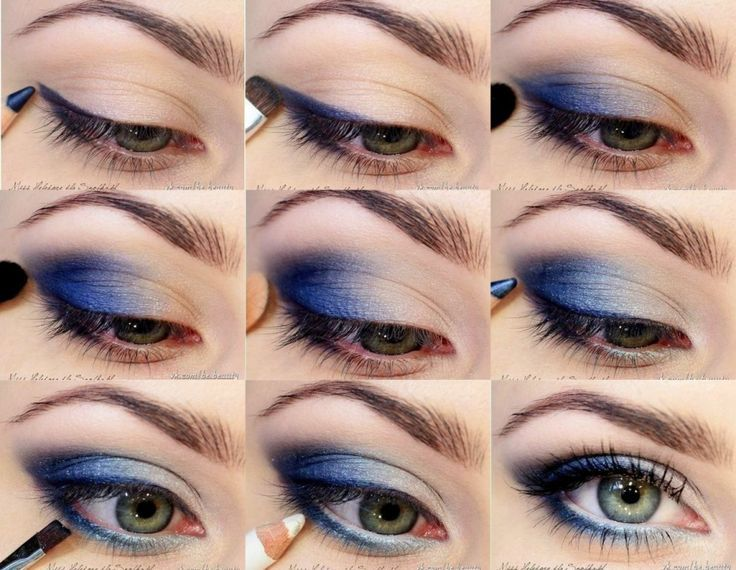 Top 10 Trending Eye Makeup Tutorials Always been against blue eyeshadow, but I am going to try this one!!!