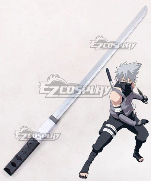 Naruto Kakashi Hatake Anbu Black Ops Sword Cosplay Weapon Prop Anbu