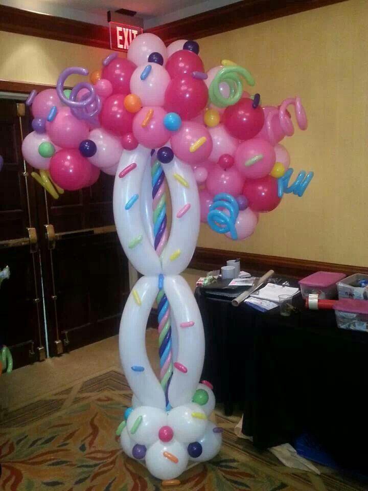 Candy themed balloon column 92 best Candyland