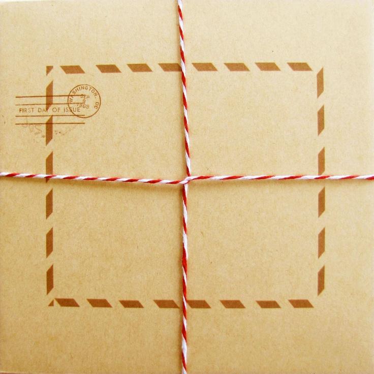 Sutherland Design's Postal Themed Envelope with String
