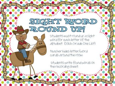 FREE Sight Word Round-Up from Tunstall's Teaching Tidbits.  The download also includes a great Reindeer themed sight word game.