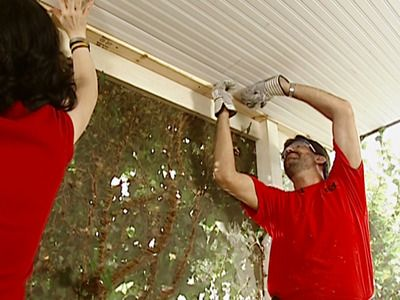 How to install a beadboard ceiling.