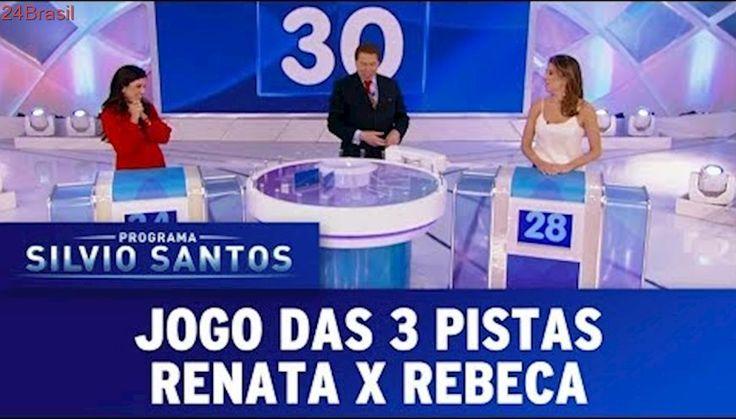 Jogo das 3 Pistas - Rebeca Abravanel x Renata Abravanel | Programa Silvio Santos (22/10/17)