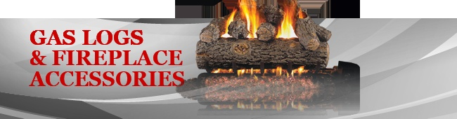 The Fireplace Place carries a wide selection of vented gas logs, vent-free gas logs, grate heaters, grates, log lighters, glass doors, hearth rugs, tool sets, cleaners, ash vacuums and fans.  We also carry all required hearth venting systems and piping as well as chimney liner kits, stove pipe and termination caps.  We fabricate custom rain pans, shrouds, and masonry chimney caps to your specifications.