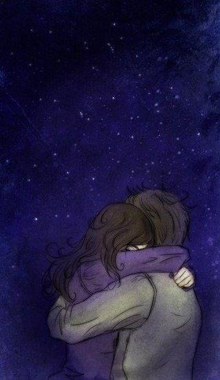 Um abraço, um beijo  e um sonho.     A felicidade pode vir dos lugares mais estranhos e inesperados- Ariane Sara Zago da Cruz