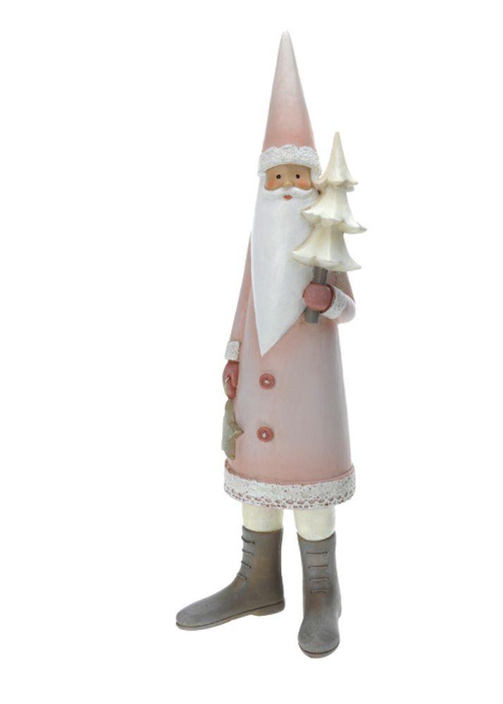 Xmas clay. Santa Claus. Διακοσμητικός κεραμικός Aγιος Βασίλης, 35 cm