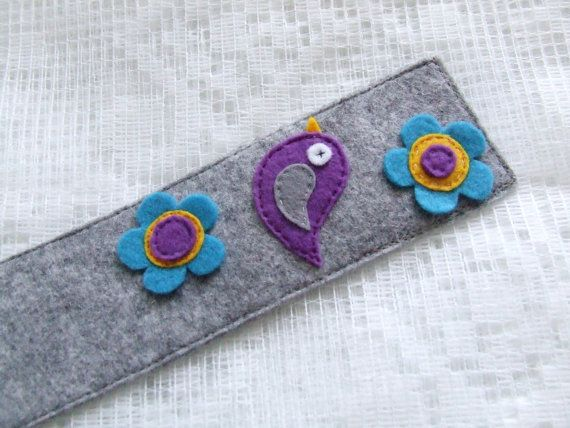 Bookmark Felt Bookmark Free shipping by MurisAndAJ on Etsy, $12.50