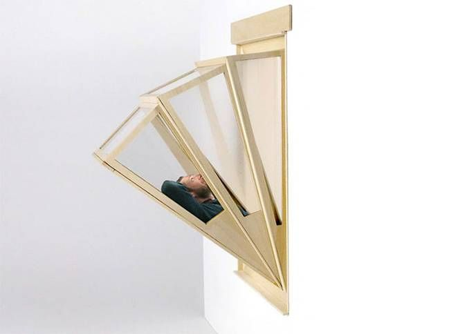 I could totally do this in the trailer!!!  Expanding Folding Sun Window!!Aldana Ferrer Garcia