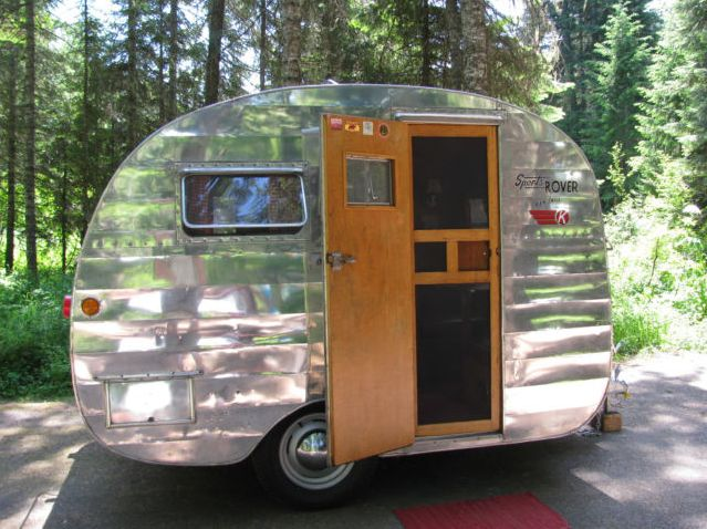 Our camper had a screen door like this one. vintage campers |